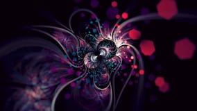 Elipsowata Stylowa Fractal sztuka z głębii plamą i Heksagonalnym Bokeh Zdjęcia Royalty Free