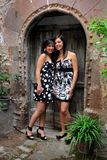 Elisa and Federica, portraits in natural light Royalty Free Stock Photo
