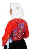 Elisa-Mädchen im Trachtenkleid von Sardinien lizenzfreie stockfotos