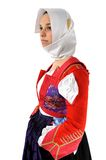 Elisa-Mädchen im Trachtenkleid von Sardinien stockbilder