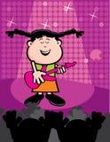 Elisa que toca la guitarra Foto de archivo libre de regalías