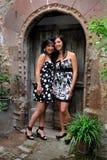 Elisa und Federica, Porträts im natürlichen Licht lizenzfreies stockfoto