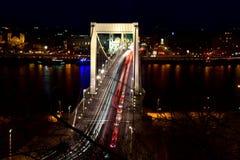 Elisabet Bridge em Budapest, Hungria Fotografia de Stock Royalty Free