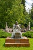 Elisabeta Carmen Silva-Statue, Peles-Schloss, Stockfoto