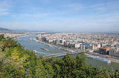 Elisabeth Bridge across the River Danube in Budapest Stock Photos
