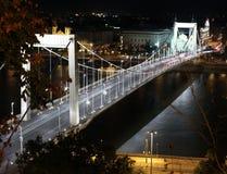 Elisabeth Bridge alla notte a Budapest immagine stock libera da diritti