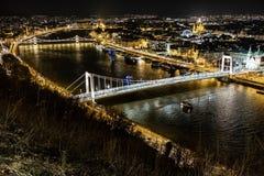 Elisabeth Bridge - Boedapest - Hongarije stock afbeelding