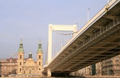 Elisabeth Bridge. Budapest Stock Photo