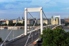 Elisabeth bridge and Budapest city centre, Hungary Stock Image