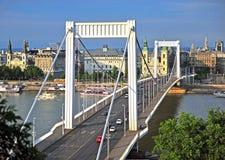 Elisabeth bridge and Budapest city centre Stock Images