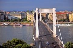 Elisabeth bridge and Budapest city centre Stock Photo