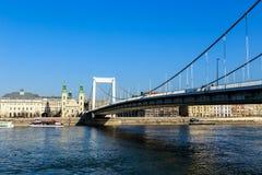Elisabeth Bridge  of Budapest, Hungary Royalty Free Stock Photos