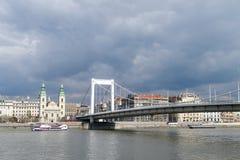 Elisabeth bridge in Budapest, Hungary Stock Photography