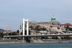 Elisabeth bridge on Danube river Royalty Free Stock Image