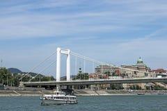 Elisabeth bridge on Danube river Stock Image