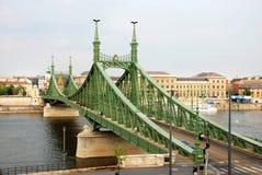 Elisabeth Bridge. Historical, green Elisabeth Bridge in Budapest on the Dunajec Royalty Free Stock Images