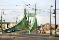 Elisabeth Bridge. Historical, green Elisabeth Bridge in Budapest on the Dunajec Royalty Free Stock Photography