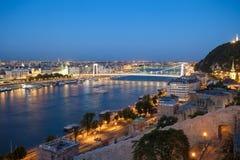 Elisabeth Bridge over Danube river Stock Image
