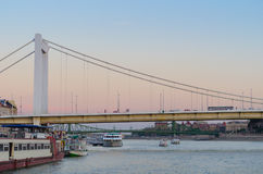 Elisabeth bridge over Danube river in Budapest, Hungary Stock Photos
