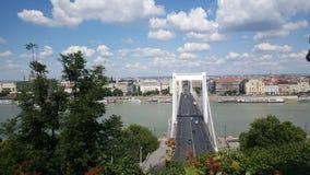 elisabeth budapest моста Стоковое Изображение