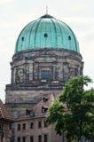 Elisabeth church dome in Nuremberg Royalty Free Stock Image
