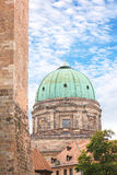 Elisabeth Church Dome in Nuremberg, Germany Royalty Free Stock Images