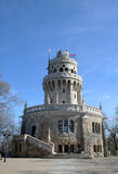 Elisabeth look-out tower. Beautiful look-out tower on the top of Budapest, Janos Hill Royalty Free Stock Photography