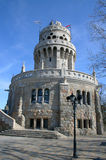 Elisabeth look-out tower. Beautiful look-out tower on the top of Budapest, Janos Hill Royalty Free Stock Photo