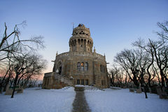 Elisabeth lookout tower. On Janos Hill, Budapest, in winter Stock Photography