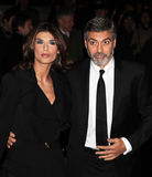 Elisabetta Canalis and George Clooney Royalty Free Stock Images