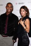 Elisabetta Canalis, Mehcad Brooks,. Mehcad Brooks and Elisabetta Canalis  at Google And T-Mobile Celebrate The Launch Of Google Music, Mr. Brainwash Studios Royalty Free Stock Image