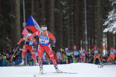 Elise Ringen - coupe du monde de biathlon Photo stock