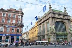Eliseyev Emporium in Nevsky Prospekt. Royalty Free Stock Photos