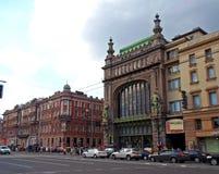 Eliseyevemporium op het Nevsky-Vooruitzicht stock afbeeldingen