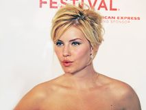 Elisha Cuthbert. Canadian television and film actress Elisha Cuthbert arrives at the midnight screening of `House of Wax` at the 4th Annual Tribeca Film Festival Royalty Free Stock Images