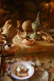 elishaa lamp monasteru oleju święty obrazy stock