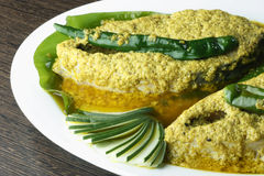 Elisher tela jhal is a bengali fish dish Stock Images