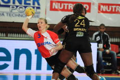 Eliska Jackova - handball fotografia stock