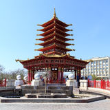 Elista Лотос фонтана 3 Пагода 7 дней Стоковые Фотографии RF