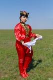 Elista Фестиваль тюльпана Ансамбль фольклора художников Стоковое Изображение