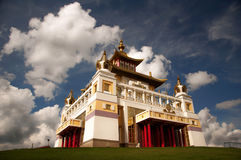 Elista, Kalmykia republika, Buddyjska świątynia Obraz Stock