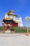 Elista Residenza dorata di Buddha Shakyamuni Fotografia Stock Libera da Diritti