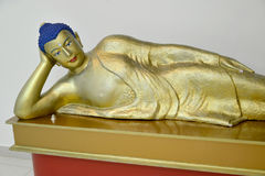 ELISTA, RUSSIA. A fragment of a sculpture of the lying Buddha Shakyamuni. National museum of Kalmykia of N. N. Palmov Stock Photo