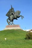 ELISTA, RUSSIA. Monument to the colonel general O. I. Gorodovikov, side view. Kalmykia Stock Images