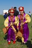 Elista Tulipanowy festiwal Artysty folkloru zespół Fotografia Royalty Free