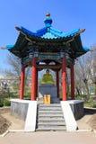 Elista Złoty dom Buddha Shakyamuni fotografia stock