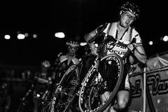 Elita kobiety - Przecinający Vegas Cyclocross Fotografia Royalty Free