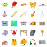 Elita rozwoju ikony ustawiać, kreskówka styl ilustracji