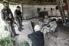 Elita wyzwanie - szkolenie wojskowe, rywalizacja cywile obraz royalty free