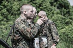 Elita wyzwanie - szkolenie wojskowe, rywalizacja cywile obraz stock